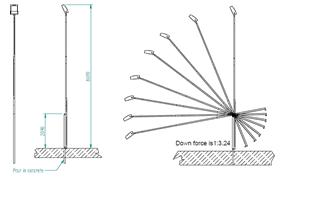Transpofix | kippbarer Lichtmast